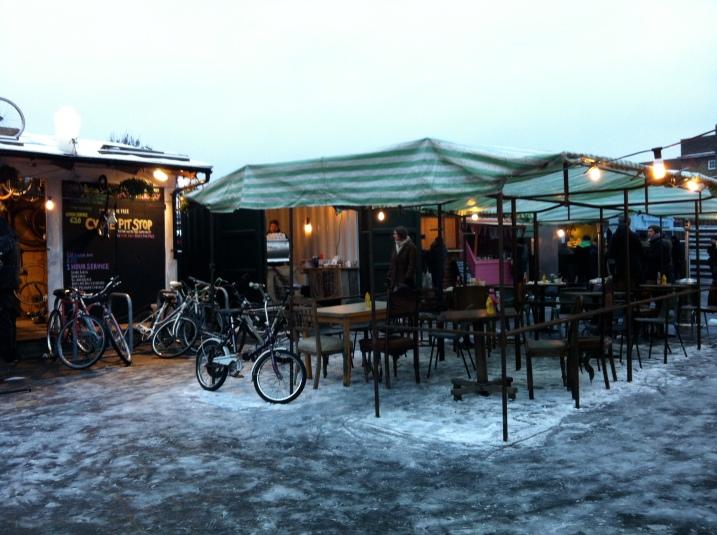 Broadway Market: Snow market, snow problem.