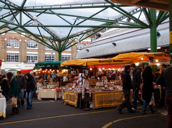 Borough Market: The artisanal area -- oils, coffee, jams, cheese, nuts and more.