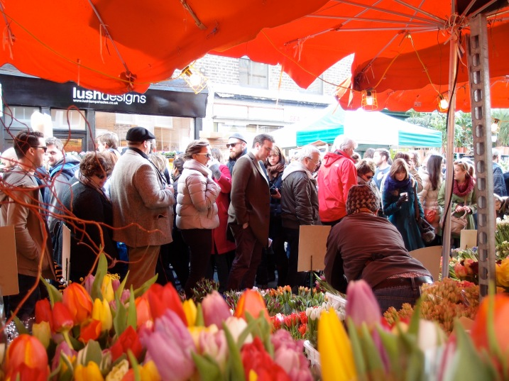 Crowds and tulips