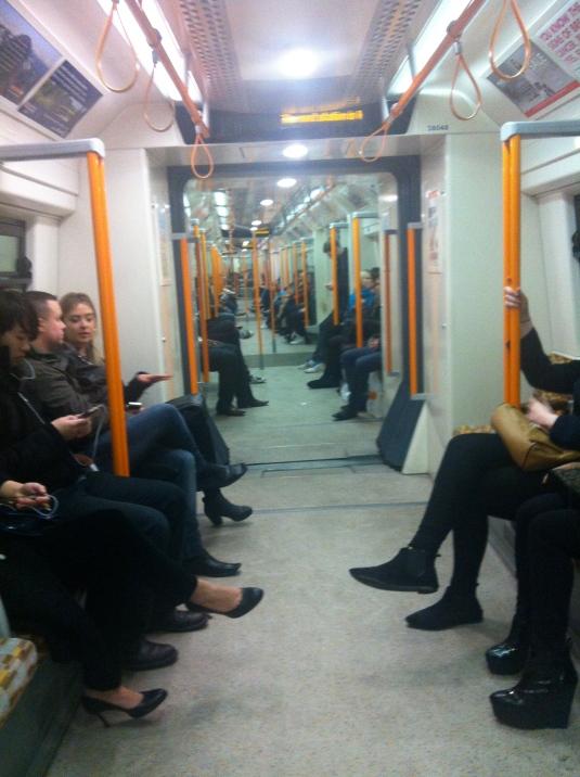 Inside an Overground train