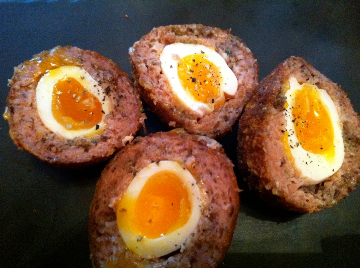 Scotch eggs at the Spaniard's Inn. Double yum.