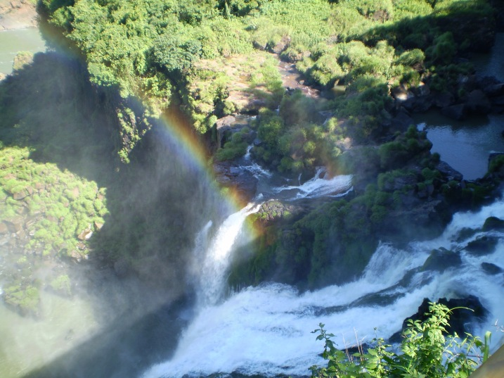 Mist and a rainbow at Iguazu, Argentina.
