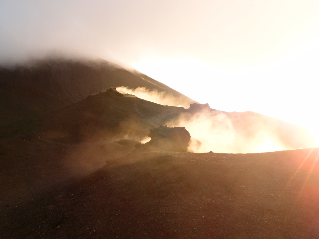 Sulfur atop Volcano Pacaya in Guatemala.
