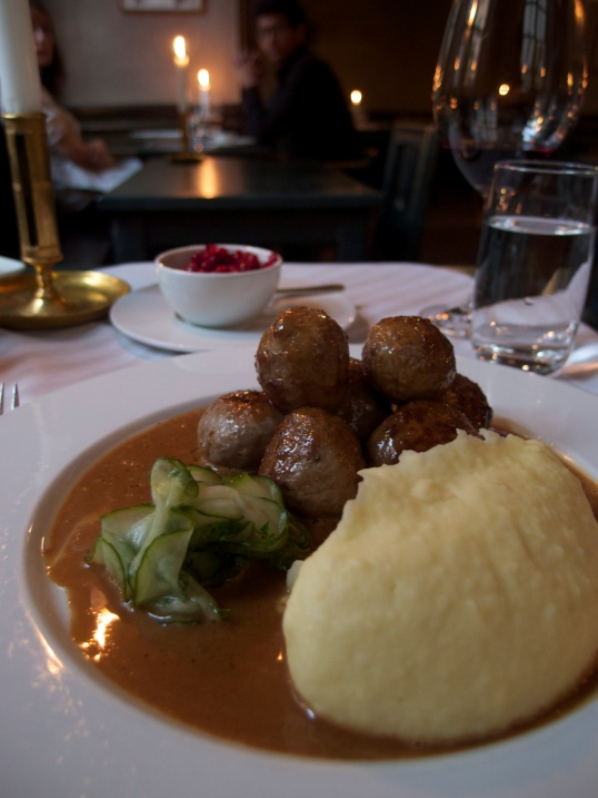 Ch-ch-check it out! Swedish meatballs.