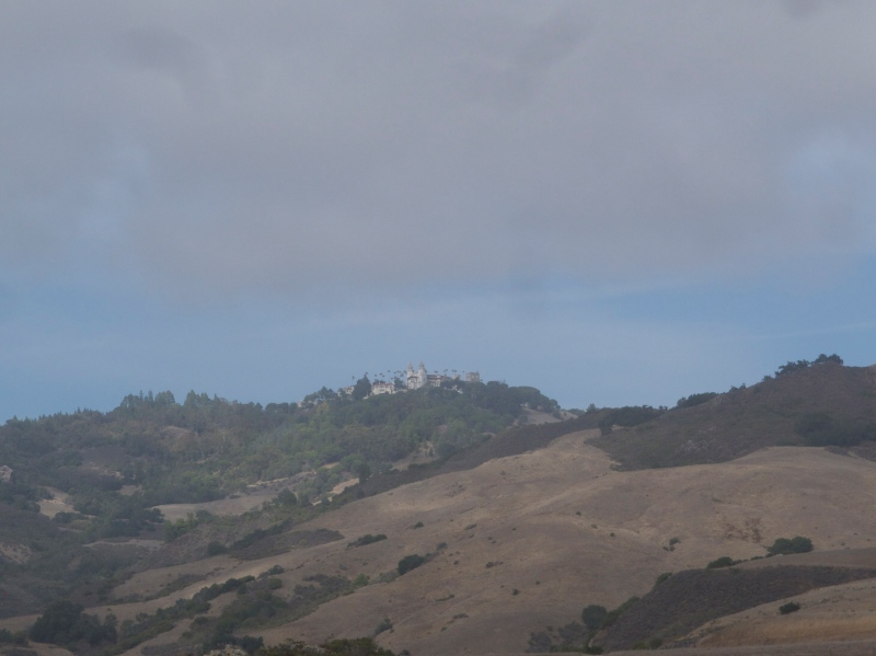 Hearst Castle way high up on the hilltop