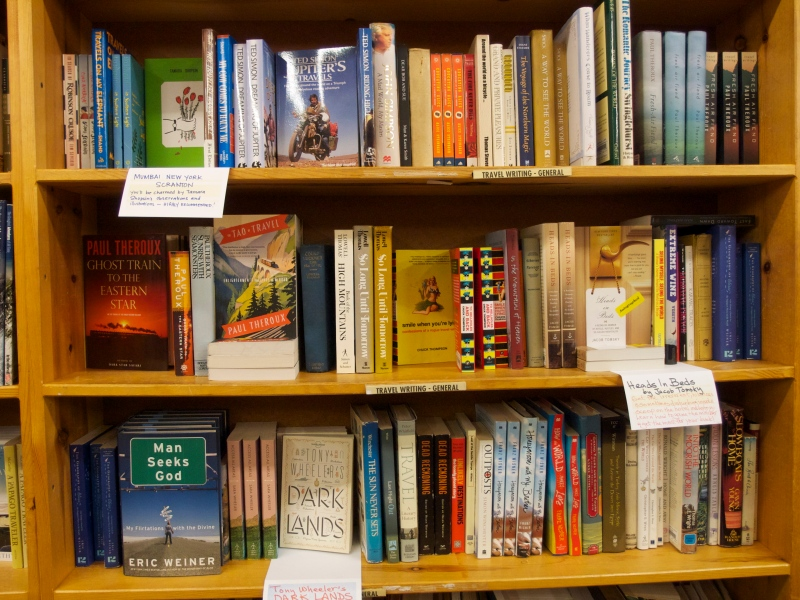 Part of the Travel shelf at Powell's. #Someday
