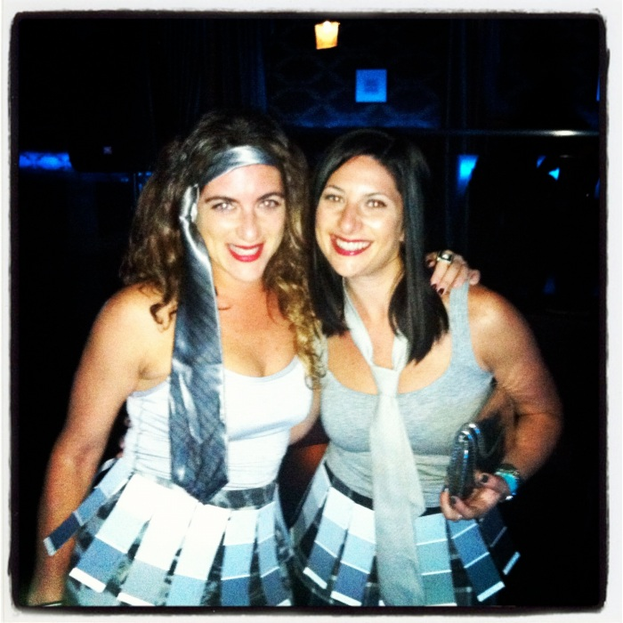 """Rach and I in the original """"50 Shades"""" costume in 2013."""