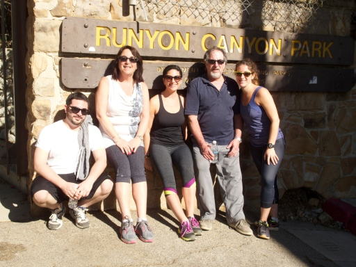 The Lieberman Tribe hikes Runyon Canyon!