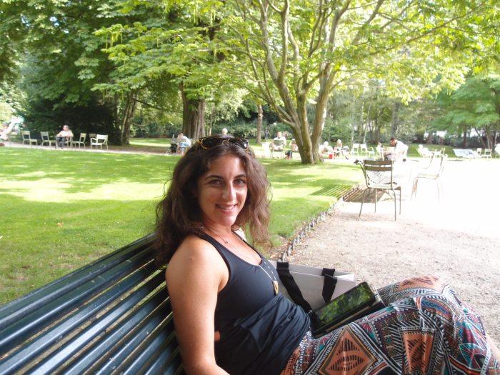 Getting my Hemingway on in Jardin du Luxembourg.