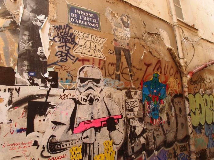 Scribble, scrabble street art.
