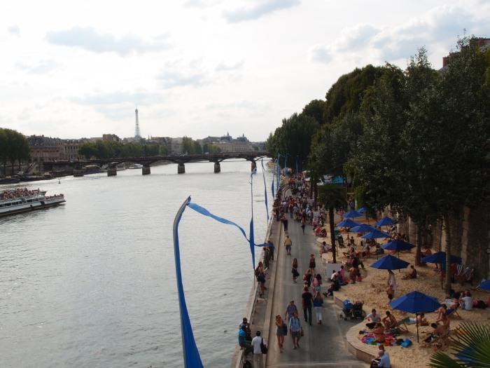 Paris Plage on the Seine.