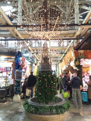 Inside the festive Beauvau Marché.