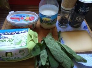 Les ingredients pour omelette aux fines herbs