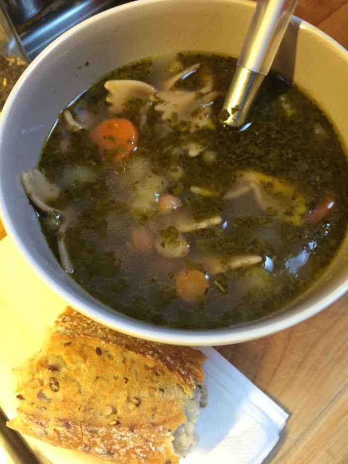 Vegetable soup avec pistou