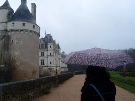 The rain at Chenonceau