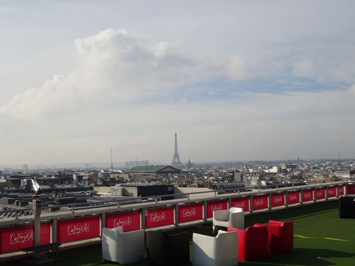 View from the rooftop of Galeries Lafayette