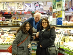 Me, Mom and Serge, the butcher