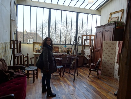 Inside a replic of Suzanne Valadon's gallery at Musee de Montmartre