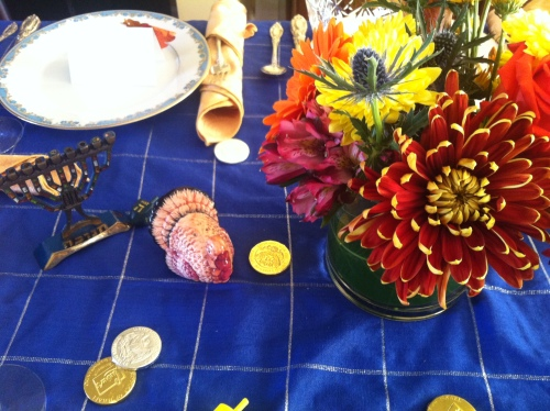 The Thanksgivikkah arrangement!