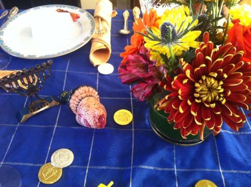 The Thanksgivikkah arrangement!
