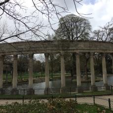 Pond and coliseum architecture