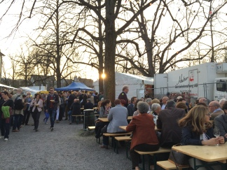 Festival atop the Lindenhof.
