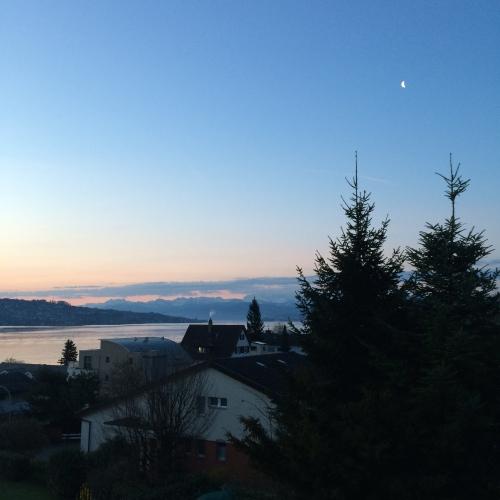 Sunrise on Lake Zurich