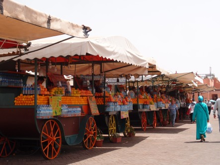 Jus d'orange in Marrakech