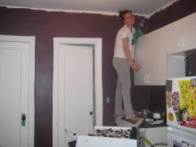 Painting the walls purple...