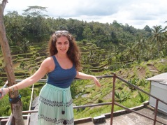 Visiting the rice terraces
