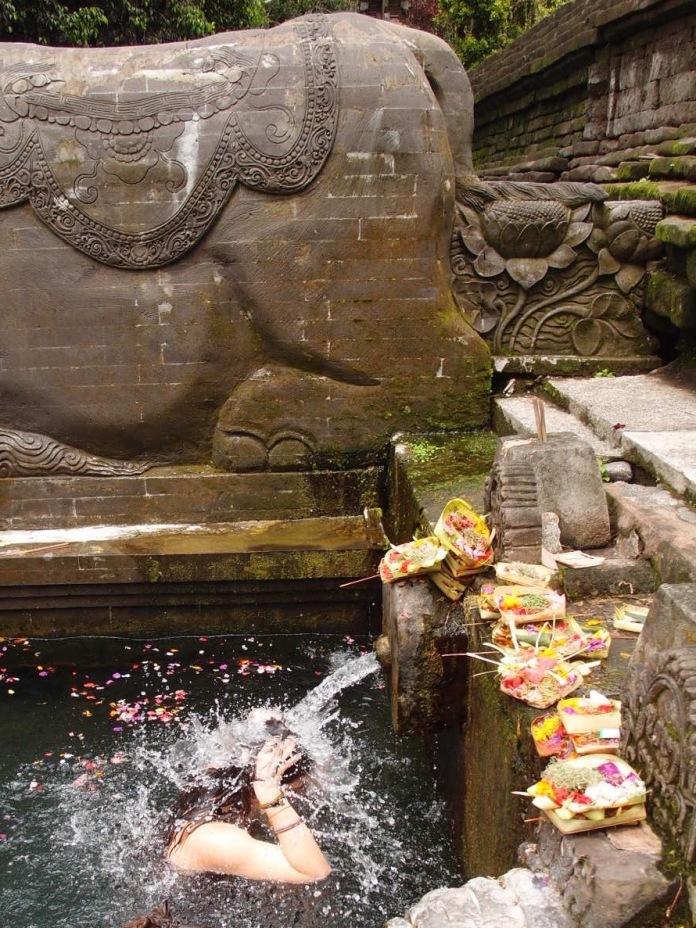 Holy water blessing at Tirta empul