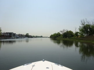 View from near our dock, headed to the bay