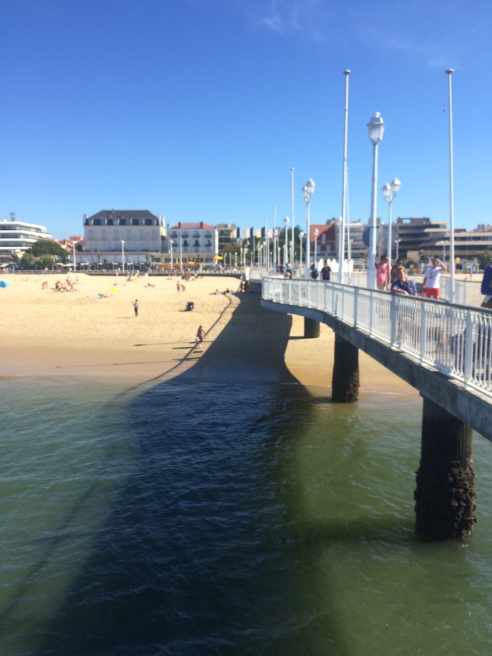 Looking back at Arcachon from the ferry pier